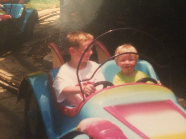 Marcus and Adam at Busch Gardens