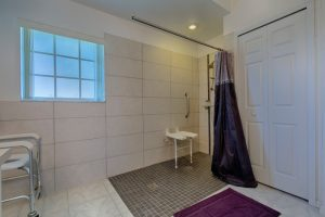 Bathroom with Roll in Shower