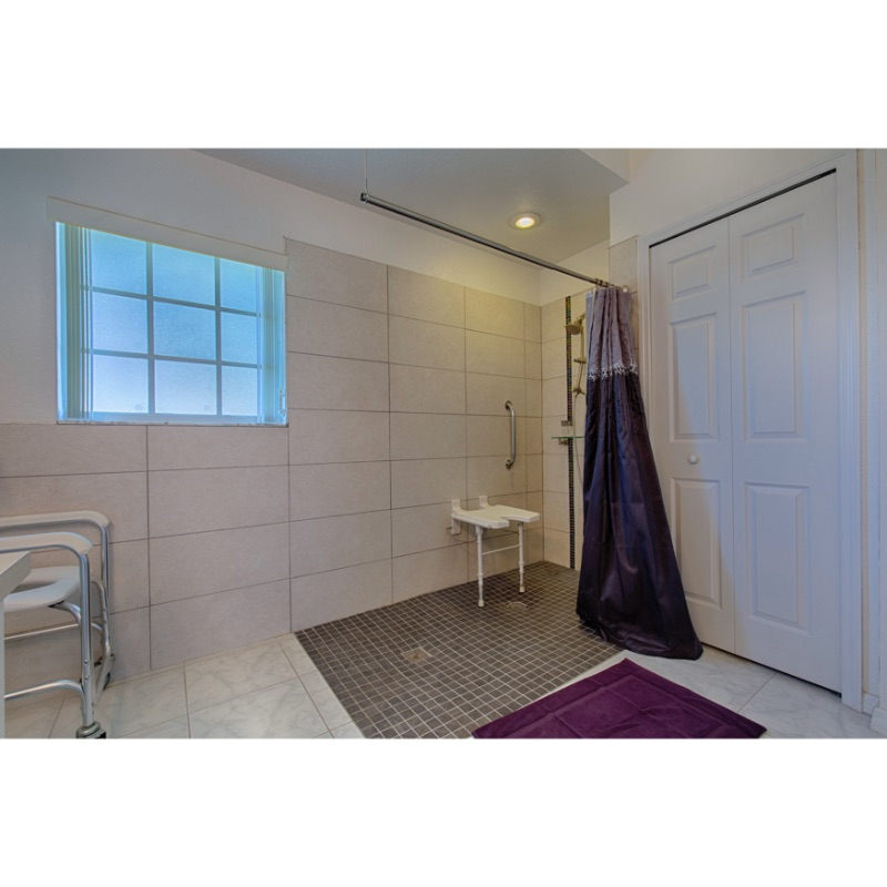 Accessible Bathroom showing Zero Entry Shower