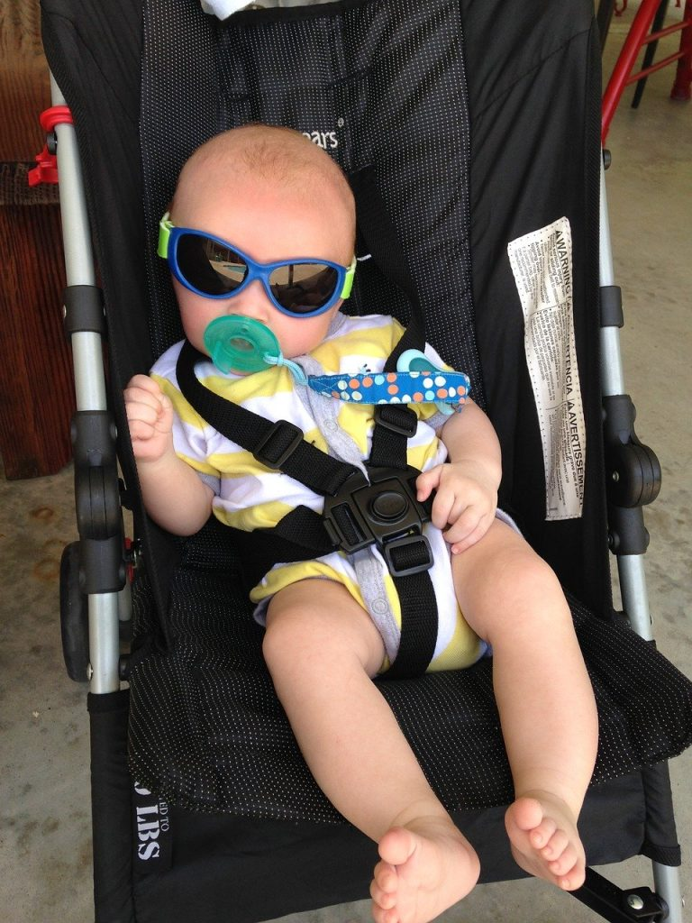Baby relaxing in Own Stroller
