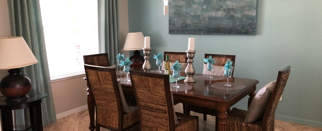 Dining Room in Disavillatee, The WheelchairAccessible Orlando Villa