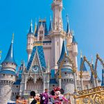 mickey and minnie at cinderellas castle